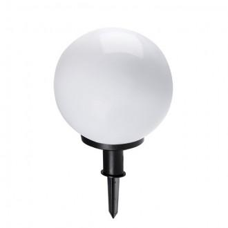 KANLUX 23511 | Idava Kanlux zapichovacie svietidlo guľa zástrčka - bez spínača otočné prvky 1x E27 IP44 čierna, biela