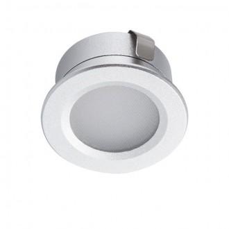 KANLUX 23520 | Imber Kanlux zabudovateľné svietidlo kruhový Ø30mm 1x LED 40lm 4000K IP65 strieborný