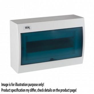 KANLUX 23612 | Kanlux rozvádzač na stenu DIN35, 12P obdĺžnik IP30 IK07 biela, sivé-modrá