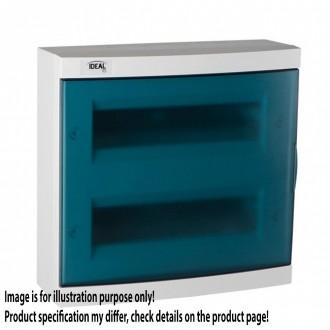 KANLUX 23614 | Kanlux rozvádzač na stenu DIN35, 24P obdĺžnik IP30 IK07 biela, sivé-modrá