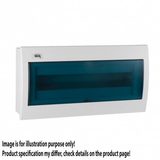 KANLUX 23619 | Kanlux zapustený rozvádzač DIN35, 18P obdĺžnik IP30 IK07 biela, sivé-modrá