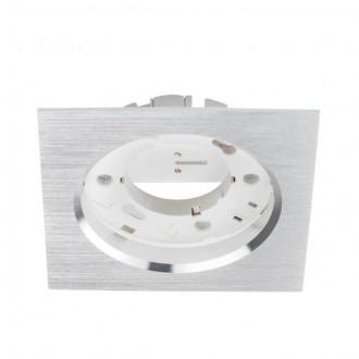 KANLUX 23783 | Volantio Kanlux zabudovateľné svietidlo štvorec 106x106mm 1x GX53 strieborný