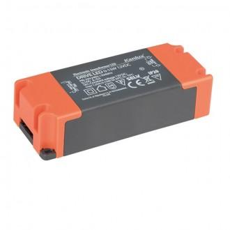 KANLUX 23860 | Kanlux LED napájací zdroj 12V DC 0-15W 1,25A obdĺžnik sivé, pomaranč