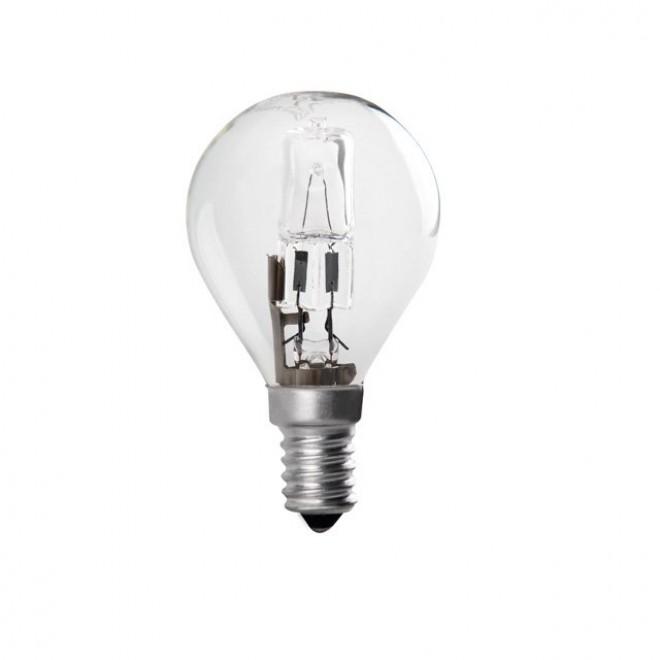 KANLUX 24613 | E14 42W -> 55W Kanlux malá guľa P45 žiarovka halogénová Ecohalo 625lm 2700K