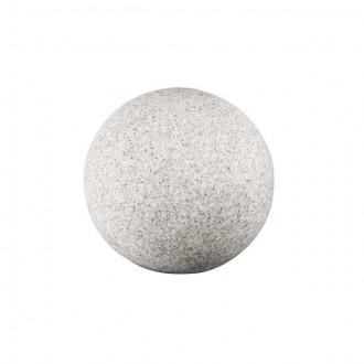 KANLUX 24650 | Stono Kanlux dekor svietidlo guľa 1x E27 IP65 svetlo šedá