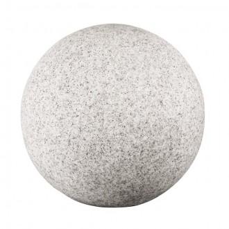 KANLUX 24652 | Stono Kanlux dekor svietidlo guľa 1x E27 IP65 svetlo šedá