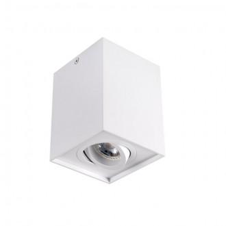 KANLUX 25470 | Gord Kanlux stropné svietidlo štvorec otáčateľný svetelný zdroj 1x GU10 biela