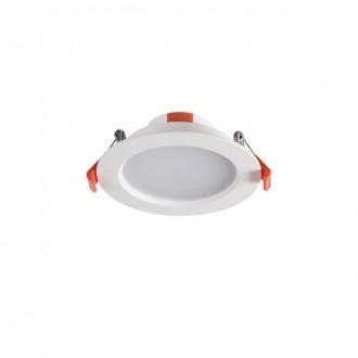 KANLUX 25560 | Liten Kanlux zabudovateľné LED panel kruhový Ø109mm 1x LED 390lm 3000K IP44/20 biela