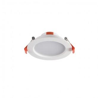 KANLUX 25561 | Liten Kanlux zabudovateľné LED panel kruhový Ø109mm 1x LED 390lm 4000K IP44/20 biela