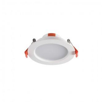 KANLUX 25562 | Liten Kanlux zabudovateľné LED panel kruhový Ø112mm 1x LED 550lm 3000K IP44/20 biela