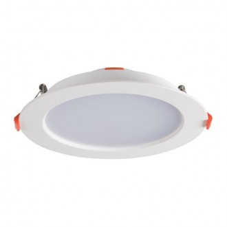 KANLUX 25567 | Liten Kanlux zabudovateľné LED panel kruhový Ø185mm 1x LED 1200lm 4000K IP44/20 biela