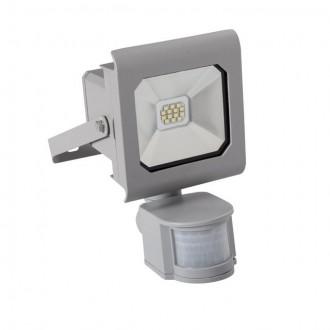 KANLUX 25580 | Antra Kanlux svetlomet svietidlo obdĺžnik pohybový senzor, svetelný senzor - súmrakový spínač otočné prvky 1x LED 750lm 4000K IP65 sivé