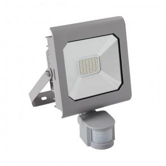 KANLUX 25581 | Antra Kanlux svetlomet svietidlo obdĺžnik pohybový senzor, svetelný senzor - súmrakový spínač otočné prvky 1x LED 2300lm 4000K IP65 sivé