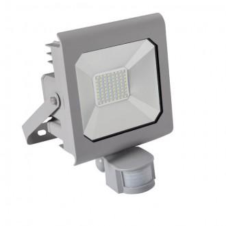 KANLUX 25582 | Antra Kanlux svetlomet svietidlo obdĺžnik pohybový senzor, svetelný senzor - súmrakový spínač otočné prvky 1x LED 3700lm 4000K IP65 sivé