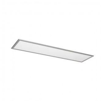 KANLUX 25940 | Bravo Kanlux sadrokartónový strop, stropné, visiace LED panel obdĺžnik 1x LED 3700lm 4000K strieborný, biela