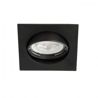KANLUX 25991 | Navi Kanlux zabudovateľné svietidlo štvorec sklápacie 81x81mm 1x MR16 / GU5.3 matná čierna