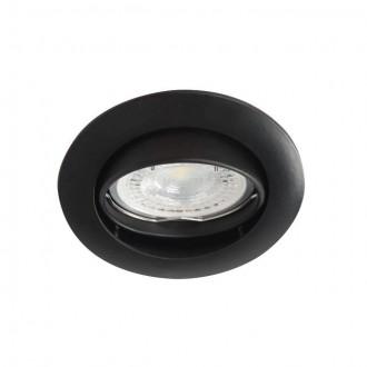KANLUX 25996 | Vidi Kanlux zabudovateľné svietidlo kruhový sklápacie Ø82mm 1x MR16 / GU5.3 čierna
