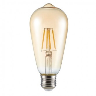 KANLUX 26041 | E27 6W -> 51W Kanlux Edison ST64 LED svetelný zdroj filament 650lm 2500K 300°