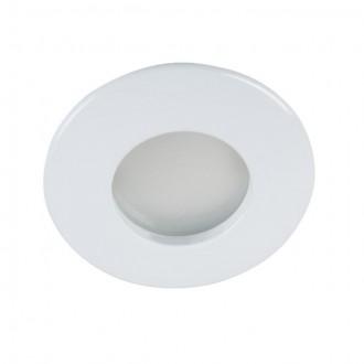 KANLUX 26303 | Qules Kanlux zabudovateľné svietidlo kruhový Ø83mm 1x GU10 IP44/20 biela