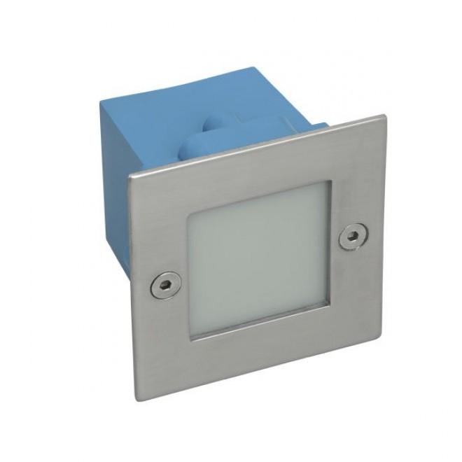 KANLUX 26461 | Taxi-LED Kanlux zabudovateľné svietidlo štvorec 70x70mm 1x LED 10lm 4000K IP54 chrom, matné