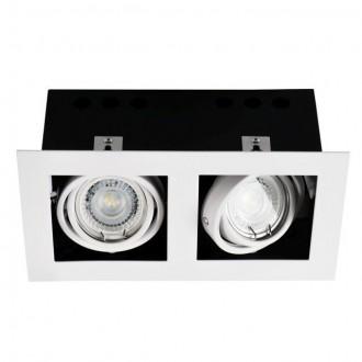 KANLUX 26481 | Meril Kanlux zabudovateľné svietidlo obdĺžnik otáčateľný svetelný zdroj 220x120mm 2x GU10 biela