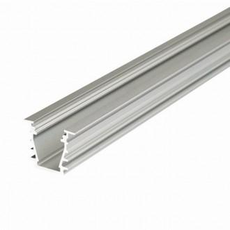 KANLUX 26555 | Kanlux hliníkový led profil I - bez tienidla - 2m pre LED pásiky max. 10 mm hliník