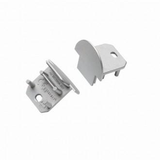 KANLUX 26591 | Kanlux ukončovací prvok I 2 dielna súprava sivé