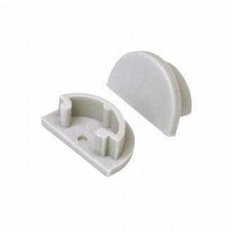 KANLUX 26594 | Kanlux ukončovací prvok H - O 2 dielna súprava sivé