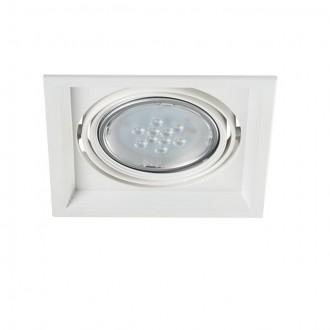 KANLUX 26610 | Arto Kanlux zabudovateľné - zapustené svietidlo štvorec otáčateľný svetelný zdroj 186x186mm 1x G53 / AR111 biela
