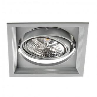 KANLUX 26611 | Arto Kanlux zabudovateľné - zapustené svietidlo štvorec otáčateľný svetelný zdroj 186x186mm 1x G53 / AR111 strieborný