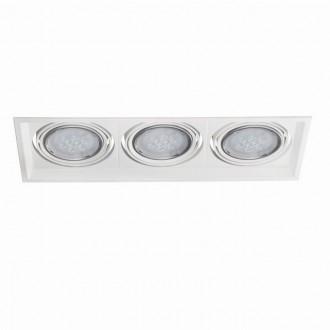 KANLUX 26617 | Arto Kanlux zabudovateľné - zapustené svietidlo obdĺžnik otáčateľný svetelný zdroj 486x186mm 3x G53 / AR111 biela