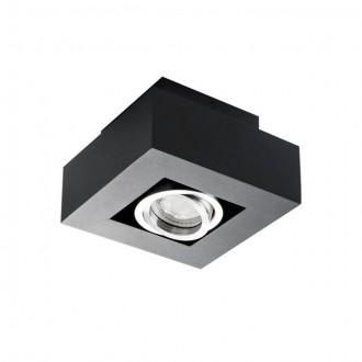 KANLUX 26830 | Stobi Kanlux stropné svietidlo štvorec otáčateľný svetelný zdroj 1x GU10 / PAR16 čierna