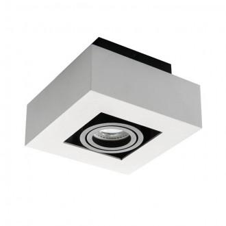 KANLUX 26831 | Stobi Kanlux stropné svietidlo štvorec otáčateľný svetelný zdroj 1x GU10 biela
