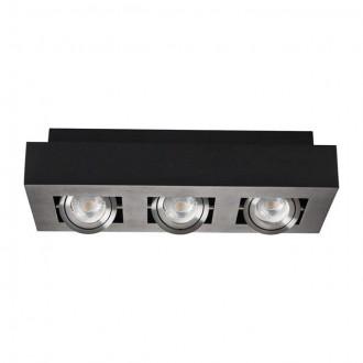 KANLUX 26834 | Stobi Kanlux stropné svietidlo obdĺžnik otáčateľný svetelný zdroj 3x GU10 / PAR16 čierna