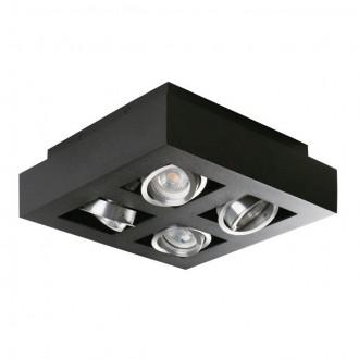 KANLUX 26836 | Stobi Kanlux stropné svietidlo štvorec otáčateľný svetelný zdroj 4x GU10 / PAR16 čierna