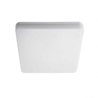 KANLUX 26980 | Varso Kanlux stenové, stropné svietidlo štvorec pohybový senzor 1x LED 1700lm 4000K IP54 IK08 biela