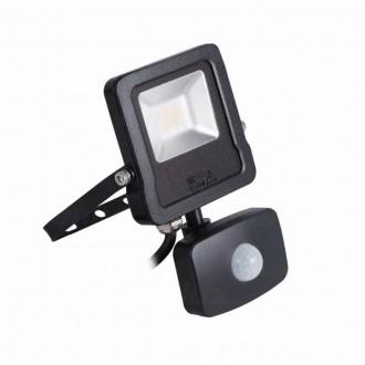 KANLUX 27094 | Antos-LED Kanlux svetlomet svietidlo pohybový senzor, svetelný senzor - súmrakový spínač otočné prvky 1x LED 800lm 4000K IP44 čierna