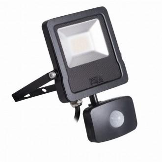 KANLUX 27095 | Antos-LED Kanlux svetlomet svietidlo pohybový senzor, svetelný senzor - súmrakový spínač otočné prvky 1x LED 1600lm 4000K IP44 čierna