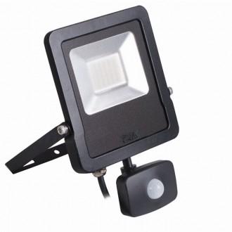 KANLUX 27096 | Antos-LED Kanlux svetlomet svietidlo pohybový senzor, svetelný senzor - súmrakový spínač otočné prvky 1x LED 2400lm 4000K IP44 čierna