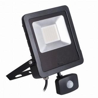 KANLUX 27097 | Antos-LED Kanlux svetlomet svietidlo pohybový senzor, svetelný senzor - súmrakový spínač otočné prvky 1x LED 4000lm 4000K IP44 čierna