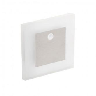 KANLUX 27370 | Kanlux-Apus Kanlux zabudovateľné svietidlo štvorec pohybový senzor 75x75mm 1x LED 13lm 3000K zušľachtená oceľ, nehrdzavejúca oceľ, priesvitné