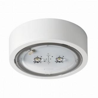 KANLUX 27383 | iTech Kanlux viacúčelové núdzové osvetlenie 1h - stenové, stropné, zabudovateľné svietidlo - ST kruhový 1x LED 452lm 5000K IP65 biela