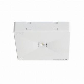 KANLUX 27390 | Ontec-R Kanlux viacúčelové núdzové osvetlenie 1h - stenové, stropné, zabudovateľné svietidlo štvorec 1x LED 261lm 5000K