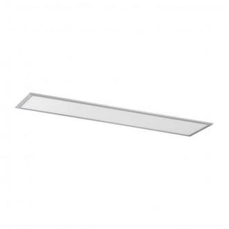 KANLUX 28023 | Bravo Kanlux sadrokartónový strop, stropné, visiace ultra SLIM LED panel obdĺžnik 1x LED 4000lm 4000K strieborný