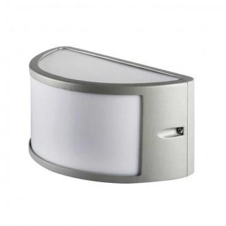 KANLUX 29060 | Shark Kanlux stenové, stropné svietidlo 1x E27 IP44 IK08 sivé, biela