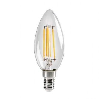 KANLUX 29618 | E14 4,5W -> 40W Kanlux sviečka C35 LED svetelný zdroj filament 470lm 2700K 320° CRI>80