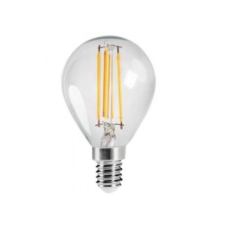 KANLUX 29624 | E14 4,5W -> 40W Kanlux malá guľa G45 LED svetelný zdroj filament 470lm 2700K 320° CRI>80