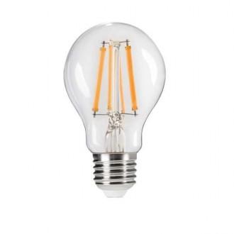 KANLUX 29634 | E27 7W -> 60W Kanlux normálne A60 LED svetelný zdroj Step Dim. 810lm 2700K regulovateľná intenzita svetla impulzový prepínač 320° CRI>80