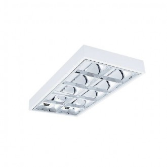 KANLUX 30176 | RSTR-LED Kanlux stropné armatúra obdĺžnik určené pre T8 LED zdroje 2x G13 / T8 LED UV biela