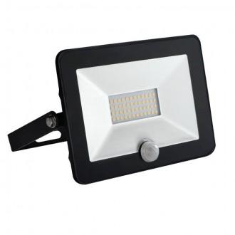 KANLUX 30325 | Grun Kanlux svetlomet svietidlo obdĺžnik pohybový senzor otočné prvky 1x LED 1400lm 4000K IP65 čierna